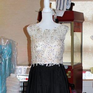 Dresses & Skirts - PROM dress Black Dress with rhinestones